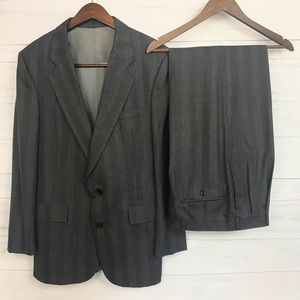 Christian Dior Monsieur Mens Suit Gray 40R / 32x40